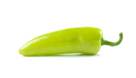 green pepper: green  pepper on white background Stock Photo