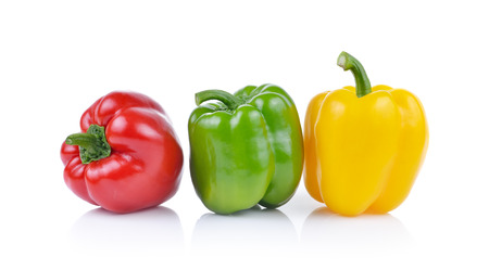 Bell pepper  isolated on white background Stok Fotoğraf - 42655621