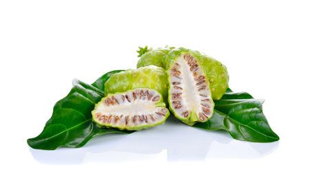 noni fruit: Exotic Fruit - Noni on white background