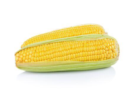Sweet corn isolated on white background 版權商用圖片