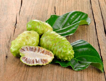 noni fruit: Exotic Fruit - Noni on white Stock Photo