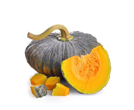 cucurbita: Green pumpkin  on white background