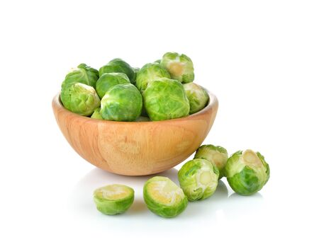 brussel: Brussel Sprouts isolated on white background