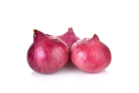 sweet segments: Red onion isolated on white background Stock Photo