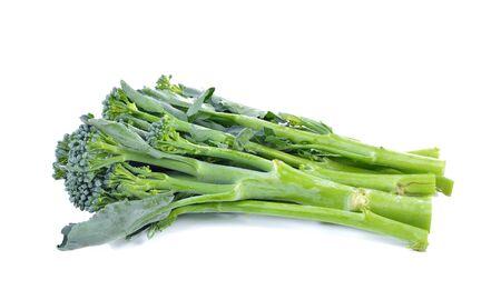 brocolli: Chinese Brocolli  on white background