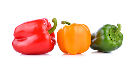 bell peper: colored peppers on white background