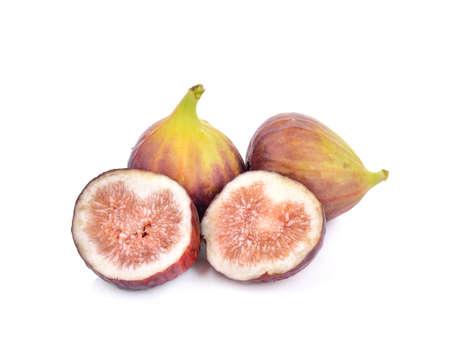sweet segments: Fresh figs isolated on white background