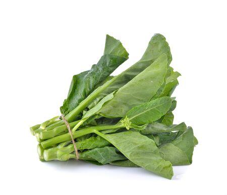 brocolli: Chinese Brocolli  on white  background Stock Photo