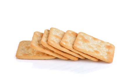 galletas integrales: galletas sobre fondo blanco