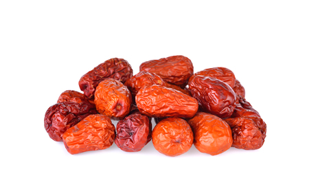 red date,chinese jujube on white background Stock Photo