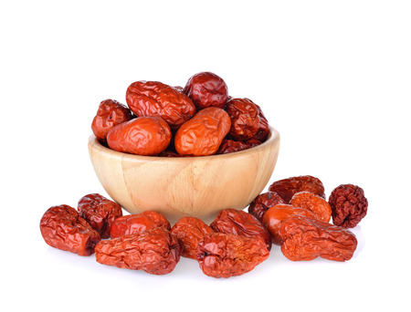 red date,chinese jujube on white background Reklamní fotografie