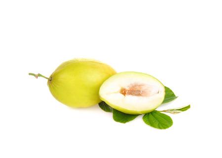 monkey apple on white background
