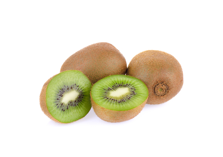 Kiwi fruit on white background 版權商用圖片