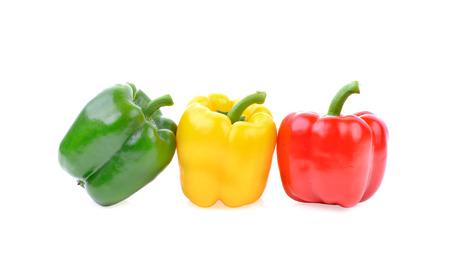 Sweet pepper on white background