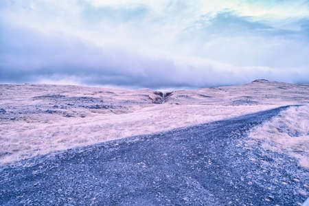 An Infrared look at the landscape of Iceland on its western region