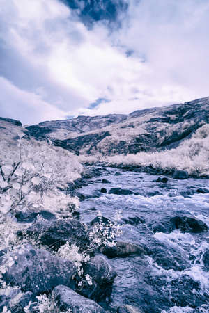 An Infrared look at the landscape of Iceland on its western region.