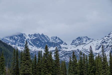 Mountain scenery Banff and Jasper National Parks Alberta Canada