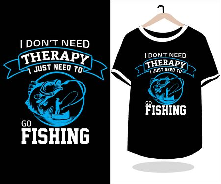 Best fishing T shirt design vector graphic element.