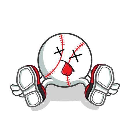 baseball death mascot vector cartoon illustration
