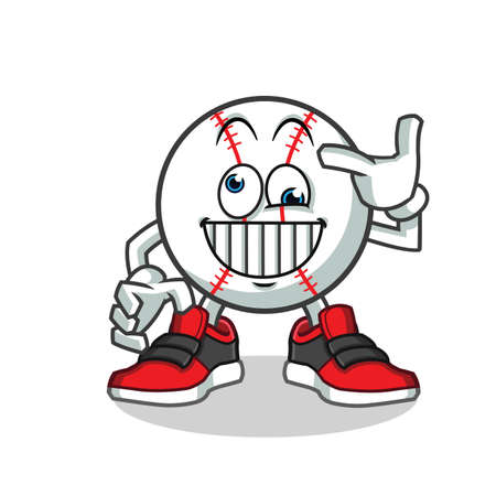 crazy baseball mascot vector cartoon illustration
