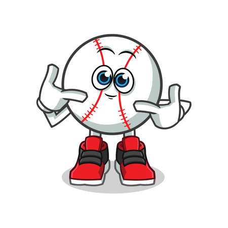 cute baseball mascot vector cartoon illustration