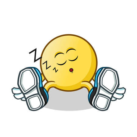 sleep emoticon mascot vector cartoon illustration