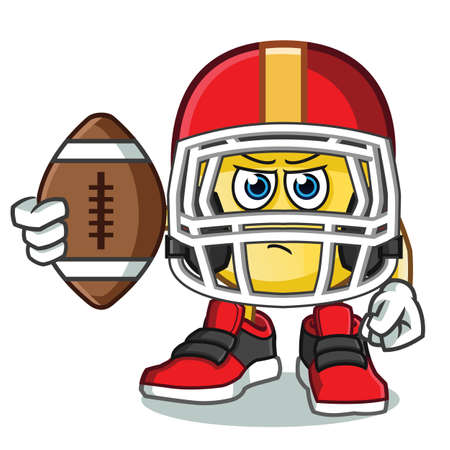 emoticon football america vector cartoon illustration