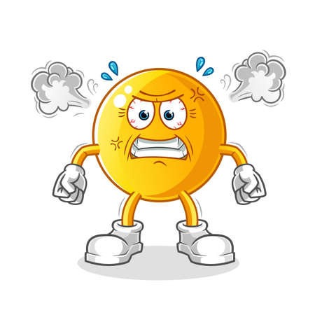 the emoticon very angry mascot. cartoon vector