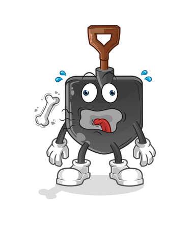 the shovel burp mascot. cartoon vector