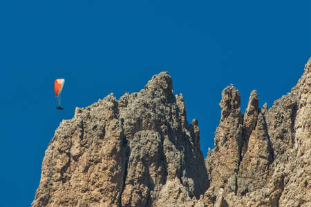 Paragliding onto the rocks