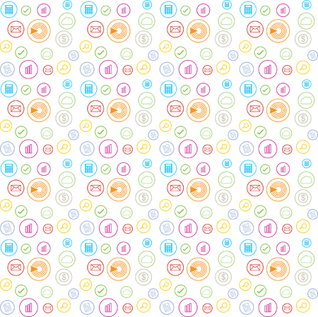 lineart pattern accountant business circle color background wallpaper