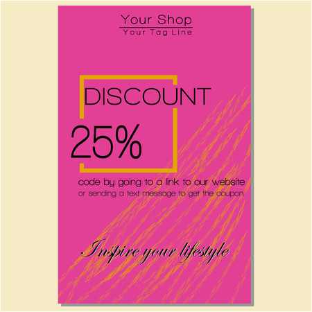 discount card pink vector