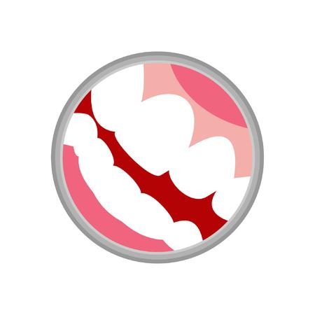 dental logo mouth and teeth vector