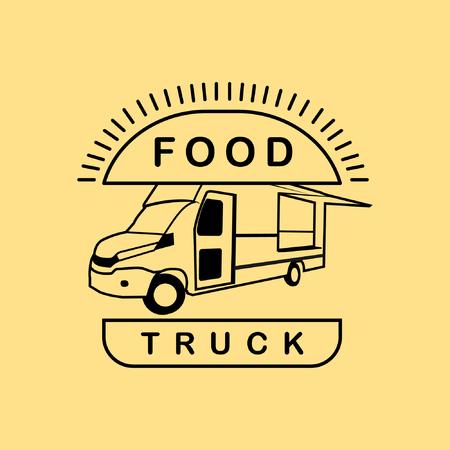 food truck burger vintage vector Illusztráció