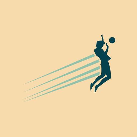 jump on football speed vector Illusztráció