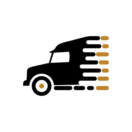 moving truck speed logo vector Illusztráció