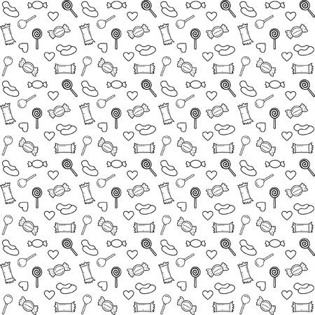 pattern candy line vector Illusztráció