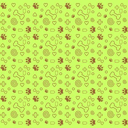 pattern dog lover yellowv ector Illusztráció