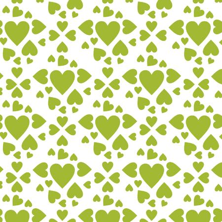pattern green hearts vector Illusztráció