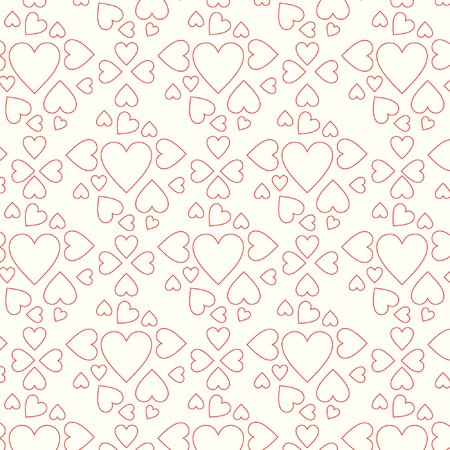 pattern line hearts vector