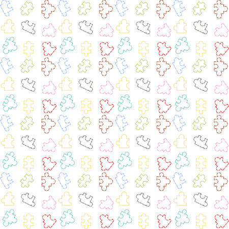 pattern puzzel line color vector Stock Illustratie