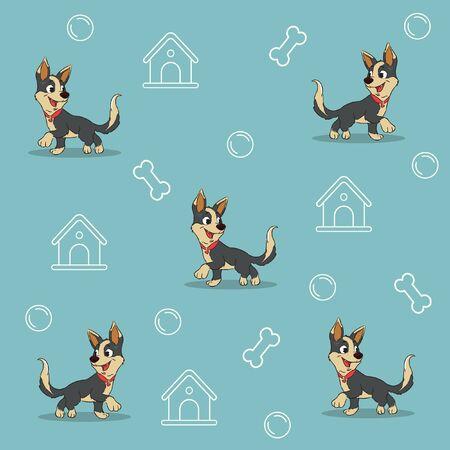 smile dog ball cage pattern vector Illusztráció