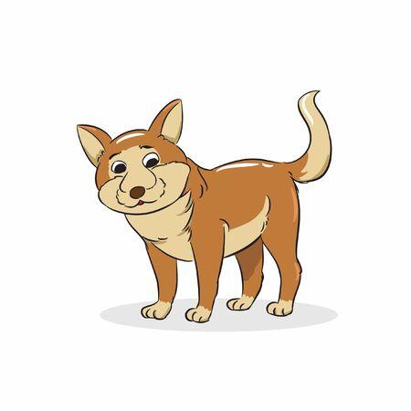 brown cute dog standing vector Illusztráció