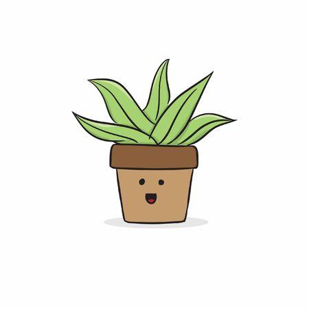 cute doodle plant vector