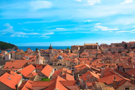 breakage: Old city of Dubrovnik in Croatia on a sunny day Stock Photo