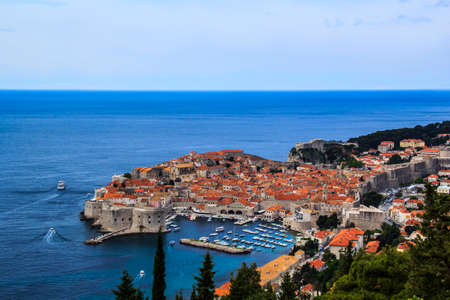 Old city of Dubrovnik in Croatia on a sunny day Stock Photo