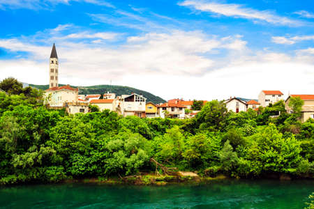 Beautiful view of the city of Mostar, Bosnia and Herzegovina