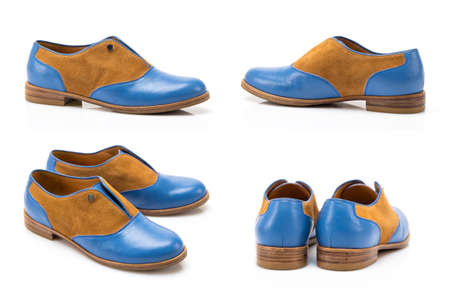 Fashionable youth shoes in four angles