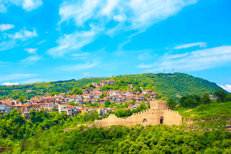 A beautiful view of the fortress of Veliko Tarnovo, Bulgaria on a sunny summer day Stock Photo