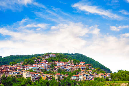 A beautiful view of the landscape of Veliko Tarnovo, Bulgaria on a sunny summer day